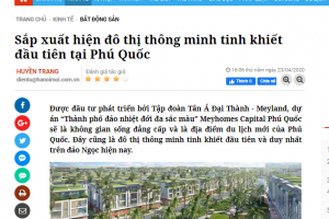 """Báo chí rầm rộ ca ngợi """"nàng tiên cá"""" Mayhomes Capital Phú Quốc"""