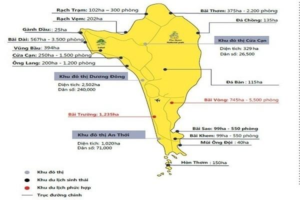 Chi tiết kế hoạch quy hoạch sử dụng đất Phú Quốc