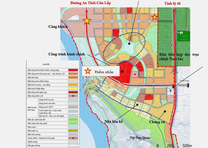 Một phần quy hoạch khu đô thị ở An Thới Phú Quốc