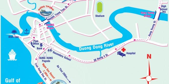 Bản đồ thị trấn Dương Đông