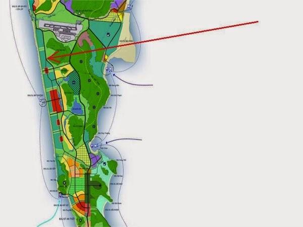 Bản đồ quy hoạch khu đô thị Đường Bào - Phú Quốc