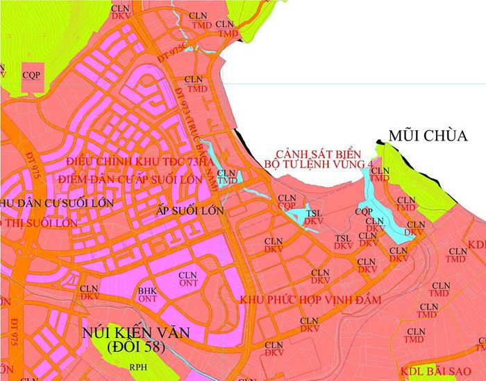 Bản đồ quy hoạch khu đô thị ấp Suối Lớn