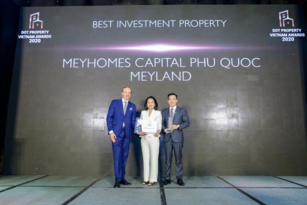 """Meyhomes Capital Phú Quốc đã được vinh danh là: """"Dự án đầu tư tốt nhất 2020"""""""