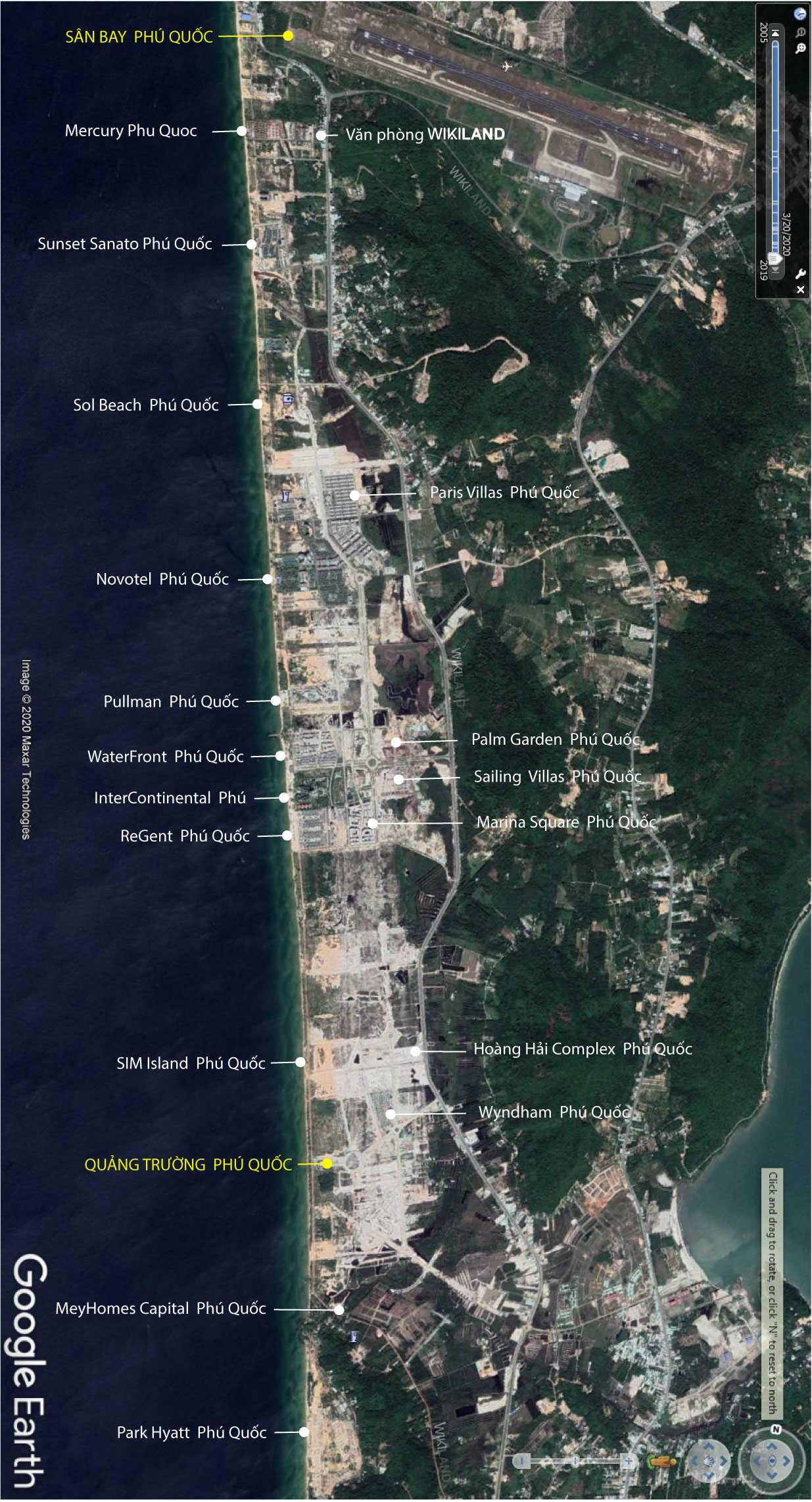 Bản đồ vệ tinh Bãi Trường, Phú Quốc được cập nhật 16/11/2019