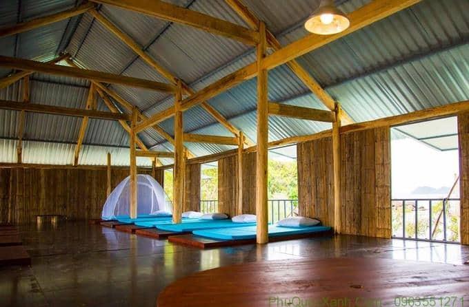 Các phòng bên trong đều sử dụng vật liệu gỗ - thân thiện với môi trường, rất