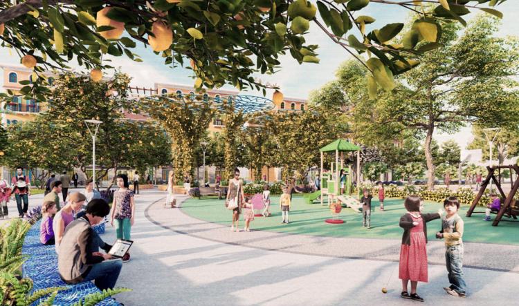 Không gian công viên tại khu đô thị