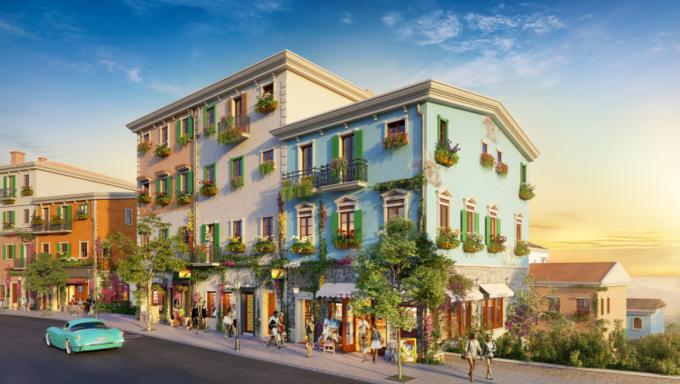 Thiết kế phóng khoáng của shophouse phong cách Địa Trung Hải
