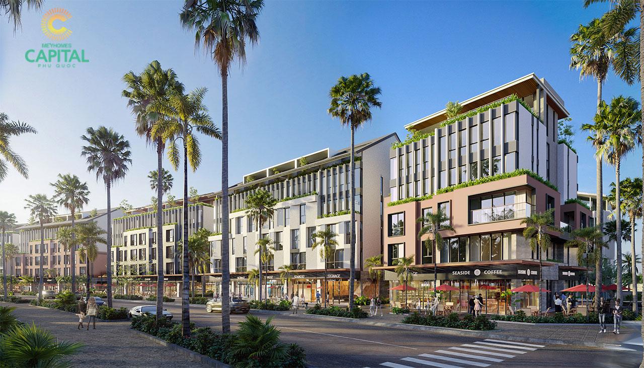 Thiết kế shophouse dư án Meyhomes Capital Phú Quốc