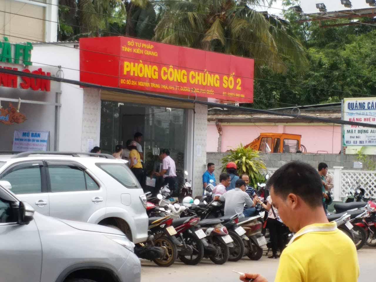 Hình ảnh phòng công chứng số 2 tỉnh Kiên Giang
