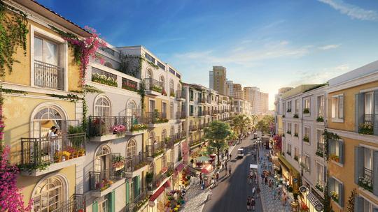 Tương lai kinh doanh sầm uất cả ngày lẫn đêm tại khu shophouse The Center, tâm mạch thị trấn Địa Trung Hải