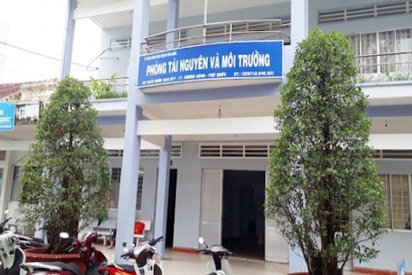 Phòng tài nguyên - môi trường ở ủy ban nhân dân thành phốPhú Quốc