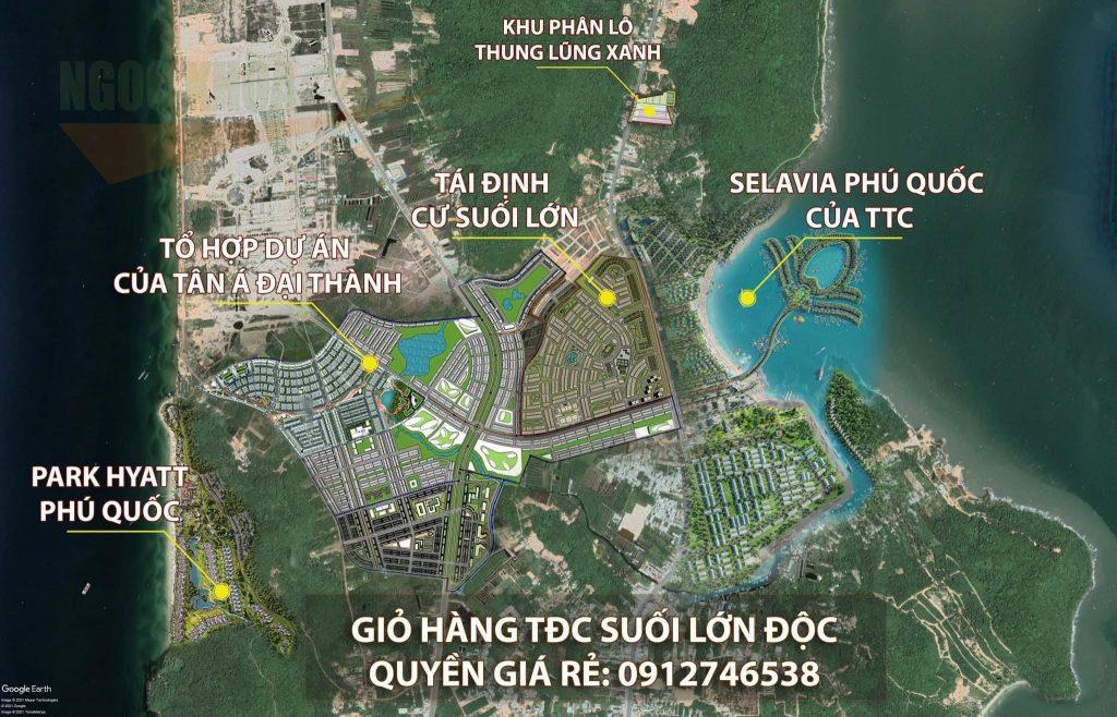Khu tái định cư Suối Lớn cùng các dự án xung quanh