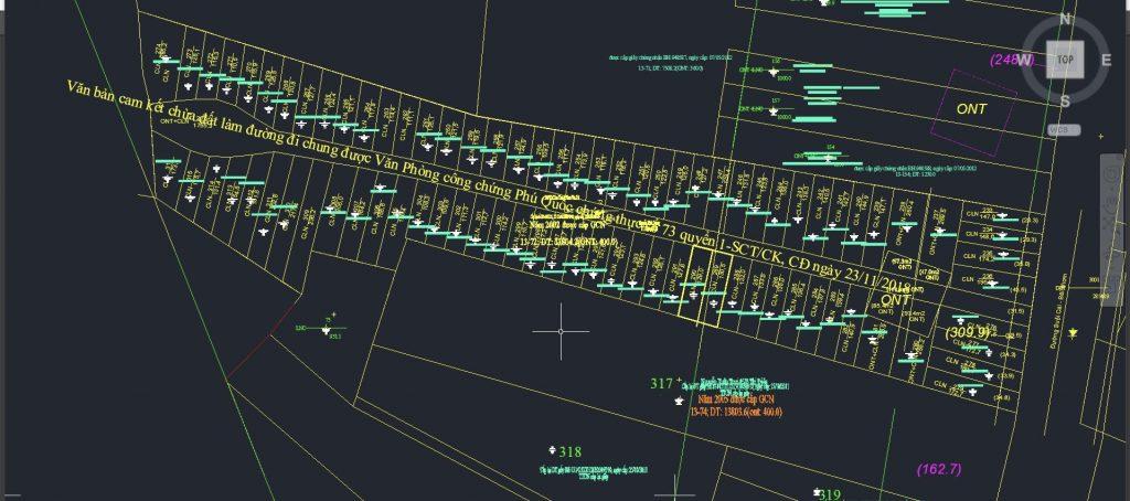 Cam kết đường đi chung được thể hiện trên bản đồ địa chính