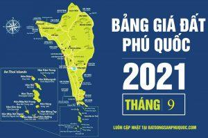 Bảng giá đất Phú Quốc tháng 9 năm 2021